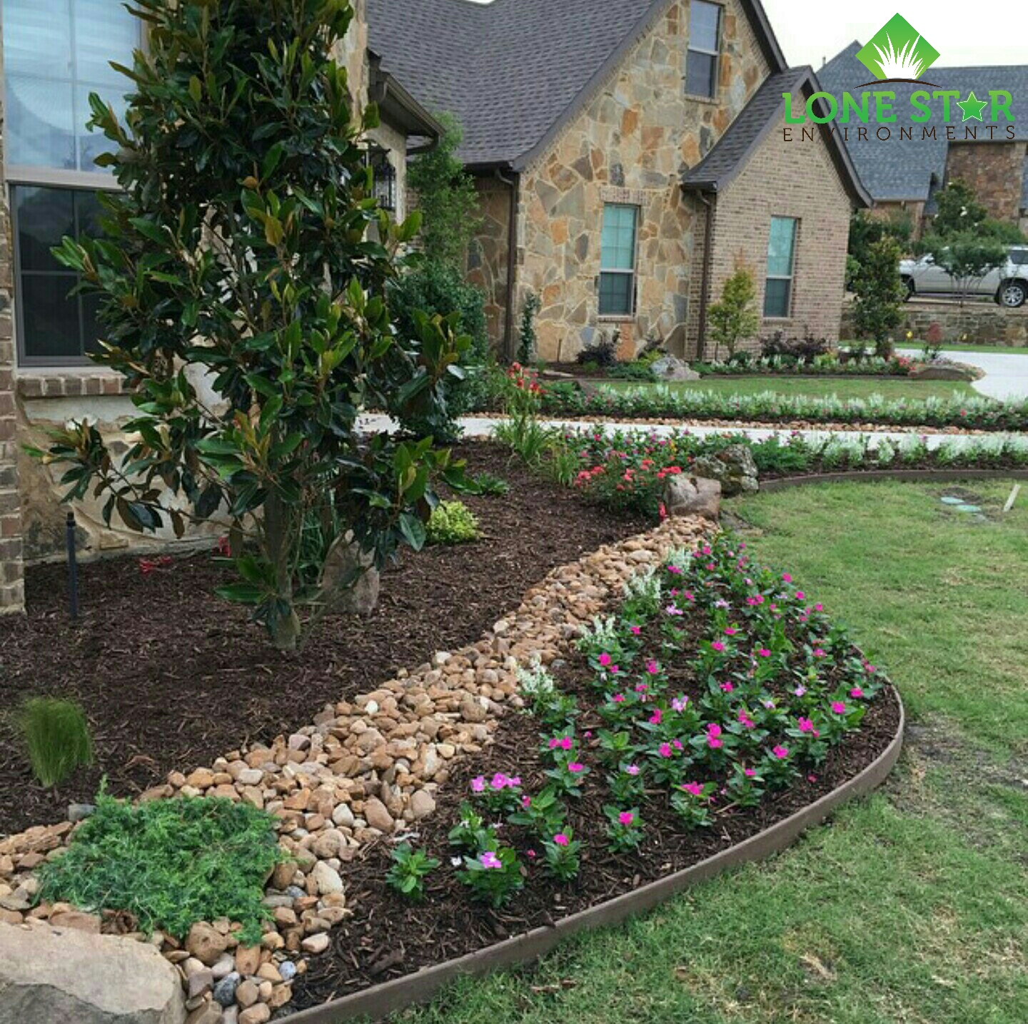 flower bed install complete