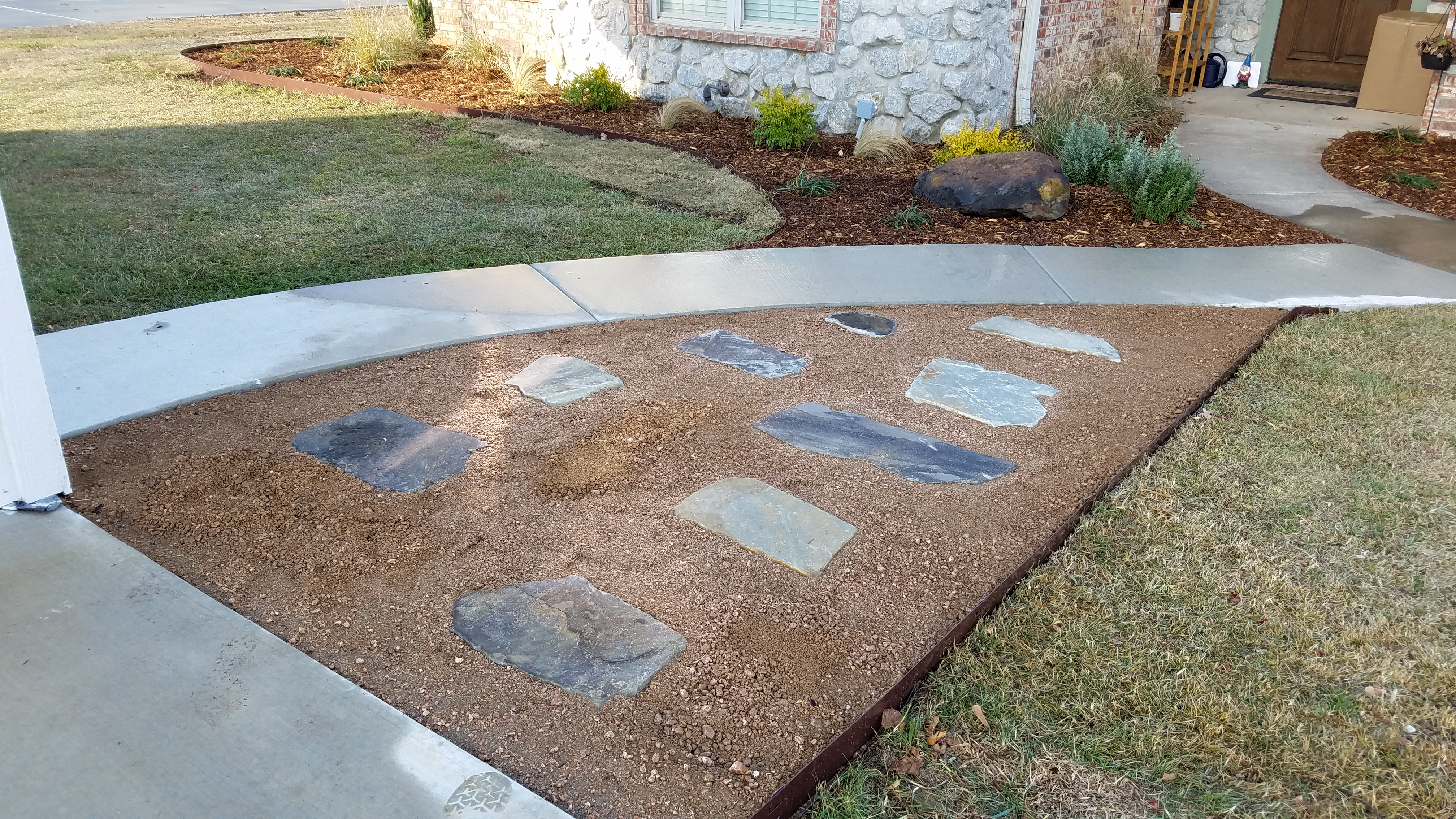 flagstone walkway installation royse city texas