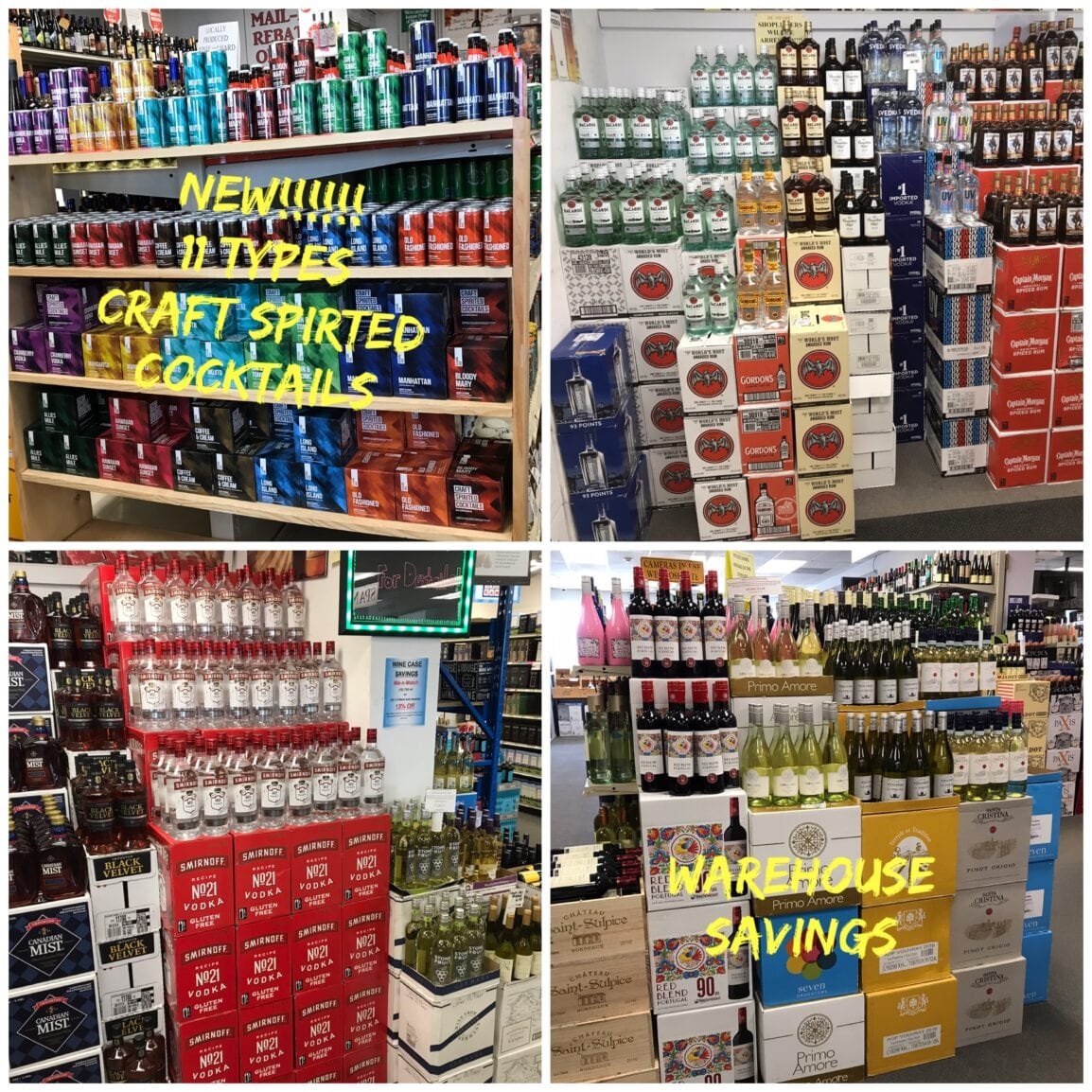 New Liquor and Wine Items