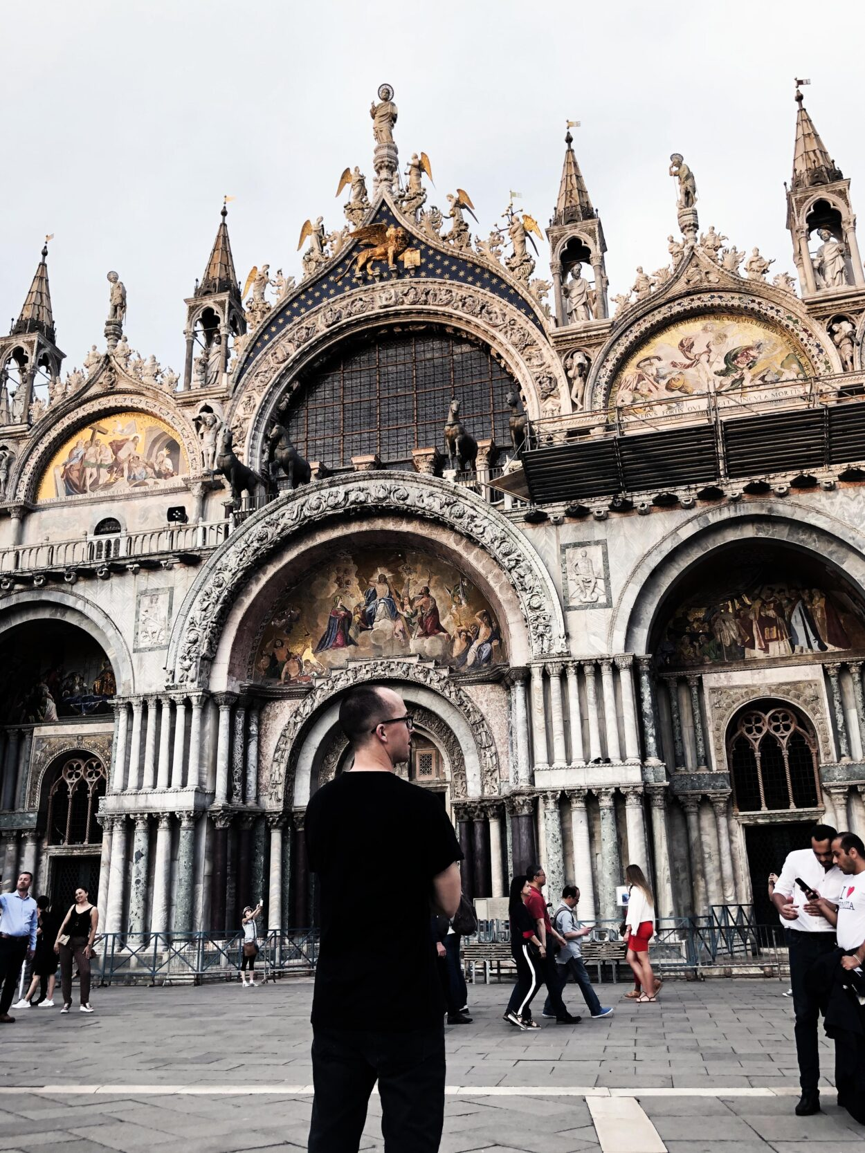 Man standing in Venice