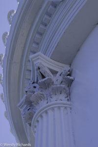 closeup of architecture of Bug light