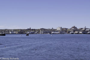 Bridge, and skyline of Portland Maine.