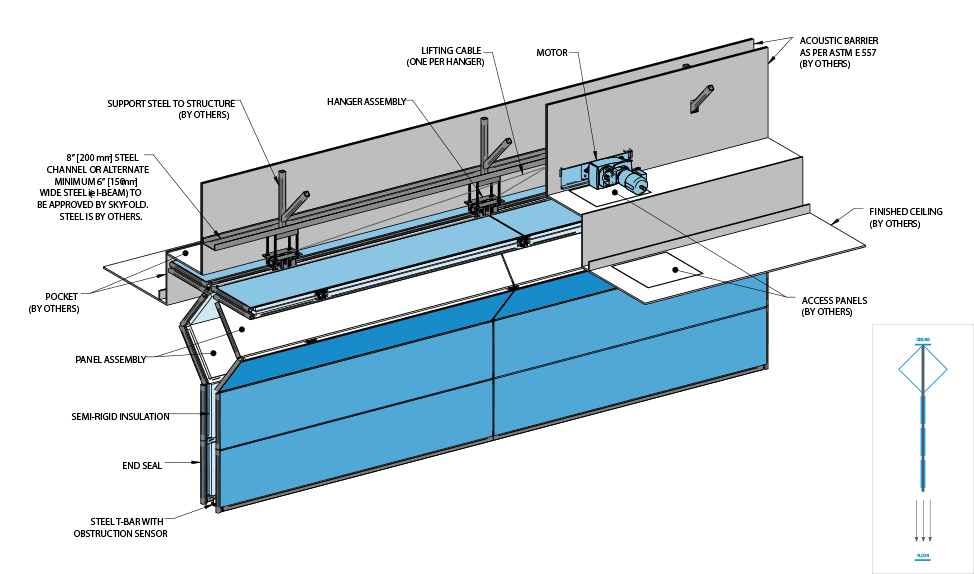 Skyfold Zenith Technical Drawing