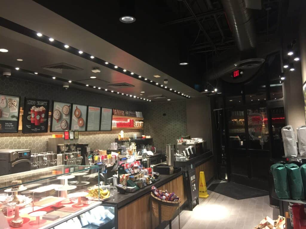 Starbucks Allentown PA painted drywalled and finished by Danbury Painting