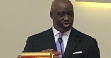 Adrian Council speaks at St John's Baptist Church