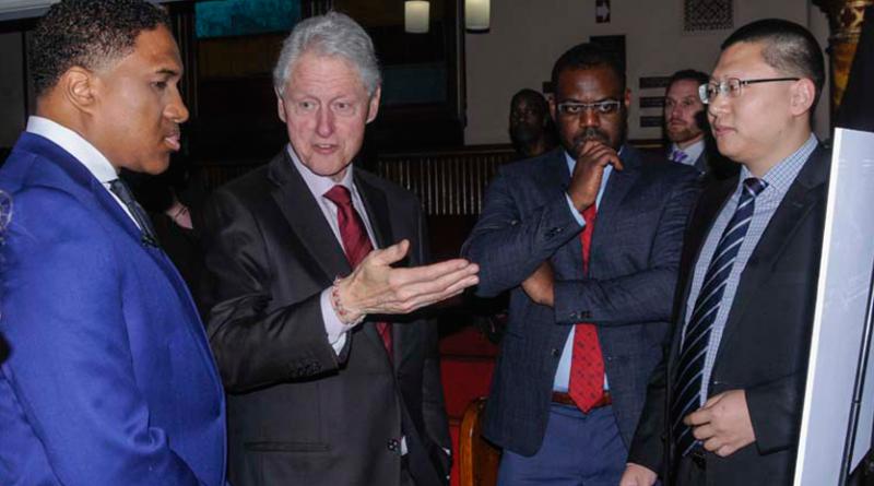 President Bill Clinton visits the Cornerstone Baptist Church