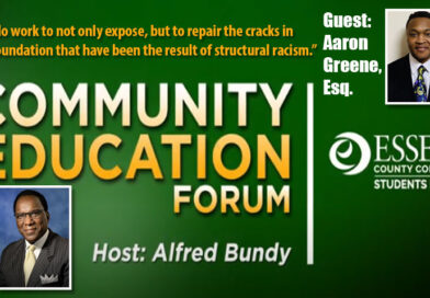 Essex County College Community Education Forum with guest Aaron Greene, Esq.