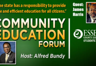 Essex County College Community Education Forum with guest James Harris
