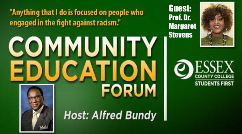 ECC Community Education Forum with host Alfred Bundy featuring ECC Prof. Dr. Margaret Stevens