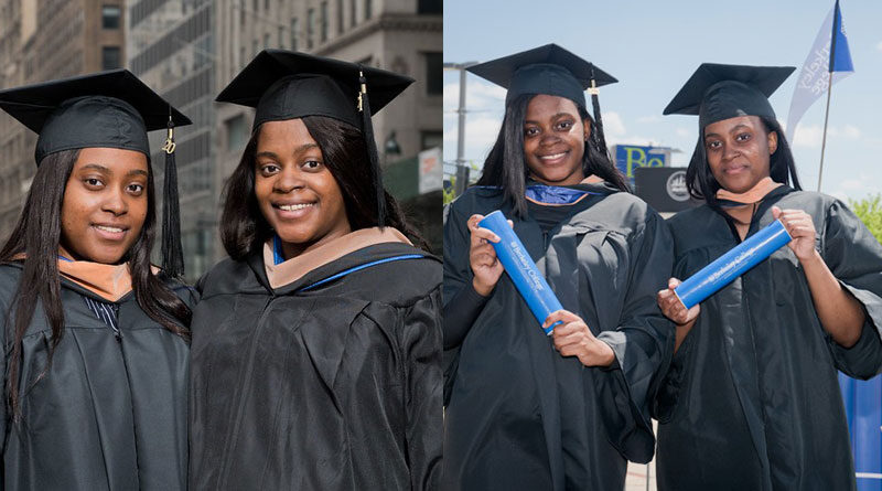 Double the Berkeley College Pride for Graduating Bronx Twins