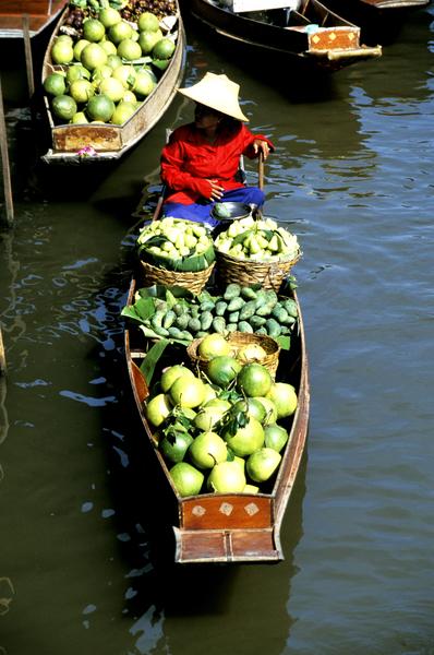 Thailand, Floating market, Damnern Saduak, photo: thaila105 Photo copyright Lee Foster, www.fostertravel.com, 510/549-2202, lee@fostertravel.com