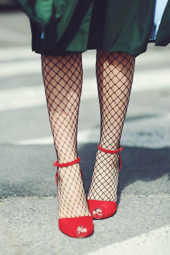 Fishnet stockings for the win!   Girlfriend is Better