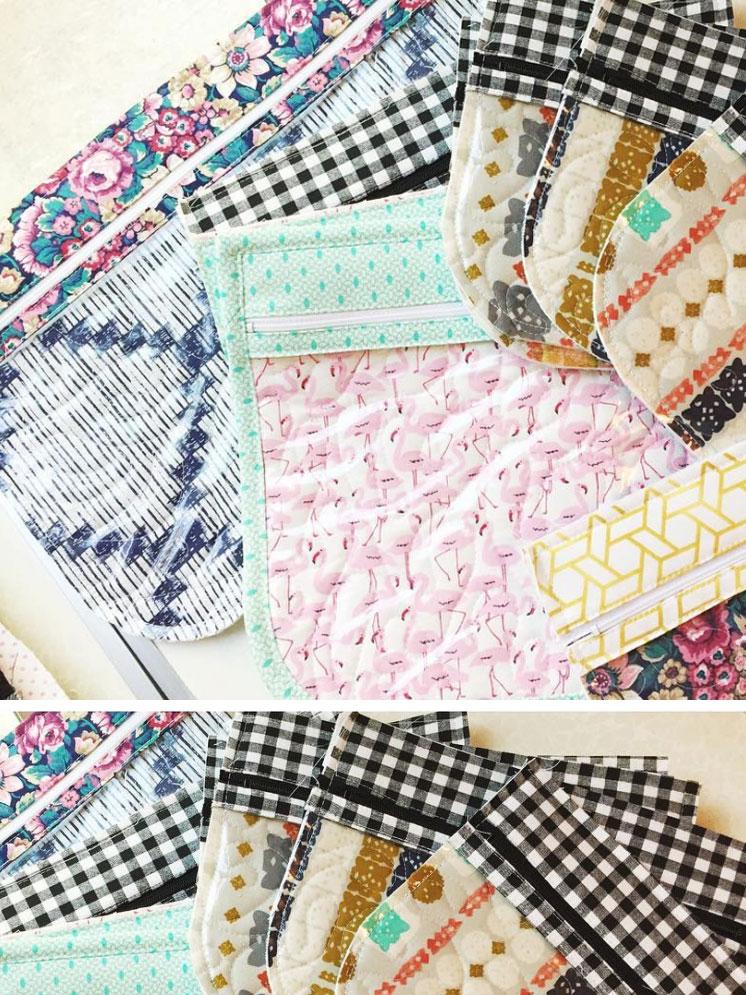 Travel zipper pouches handmade by Aynsley Campbell, Honymfin | Girlfriend is Better