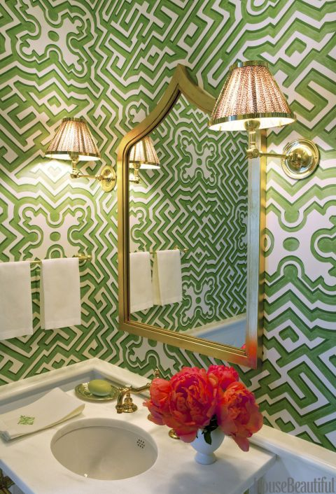 Glam up a powder room for guests | Decor by Ashley Whittaker | Girlfriend is Better