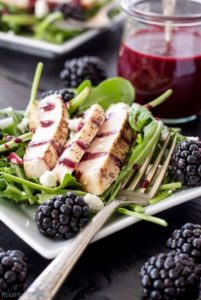 Blackberry Chèvre Salad recipe | Girlfriend is Better