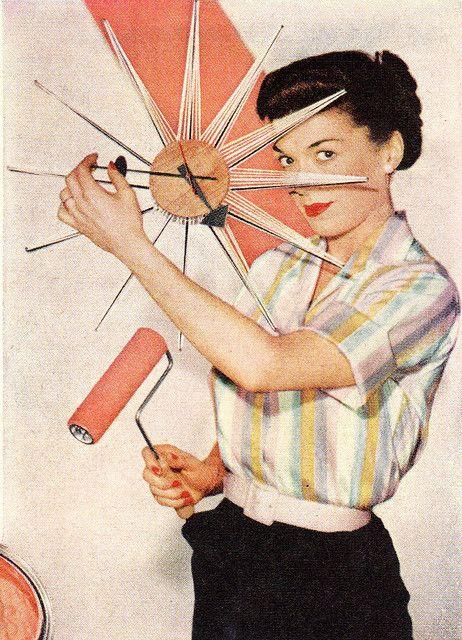 1957 Rev paint Photo by SportSuburban   mid-century modern clocks   Girlfriend is Better