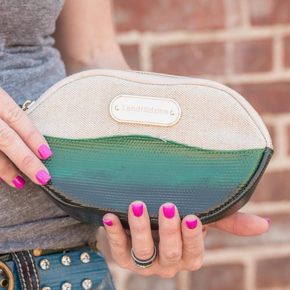 Lip Service upcycled makeup bag carried by Dear Danger mobile boutique | Girlfriend is Better