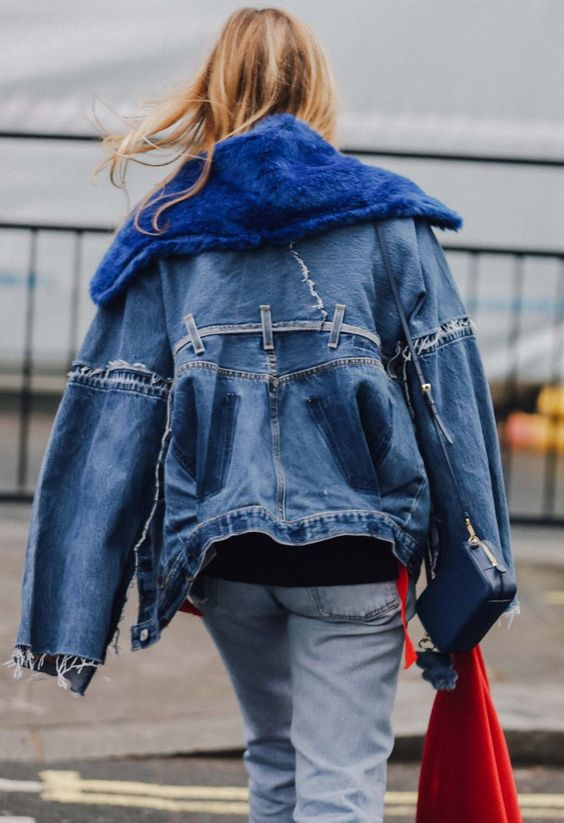 Deconstructed denim jacket | Spring 2017 | Girlfriend is Better