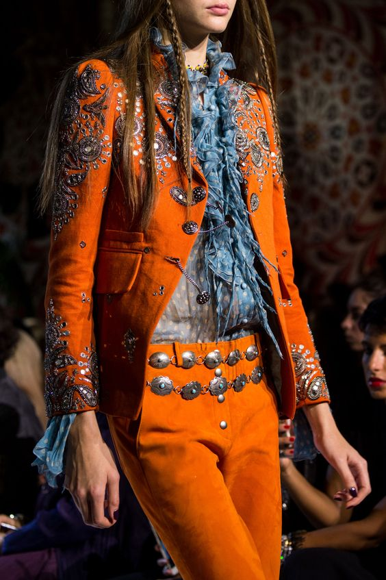 Roberto Cavalli embroidered details | Embellished jackets | Girlfriend is Better