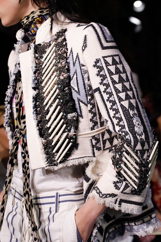 Embroidery and beads a la Roberto Cavalli | Embellished jackets | Girlfriend is Better