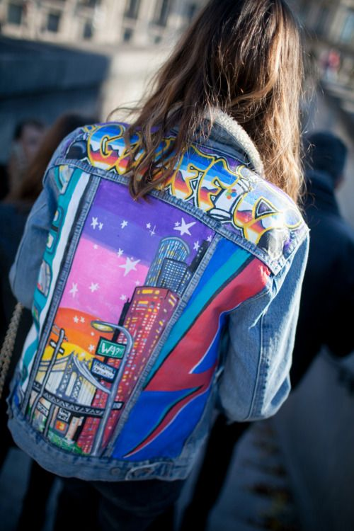 Hand-painted vintage denim | Embellished jackets | Girlfriend is Better