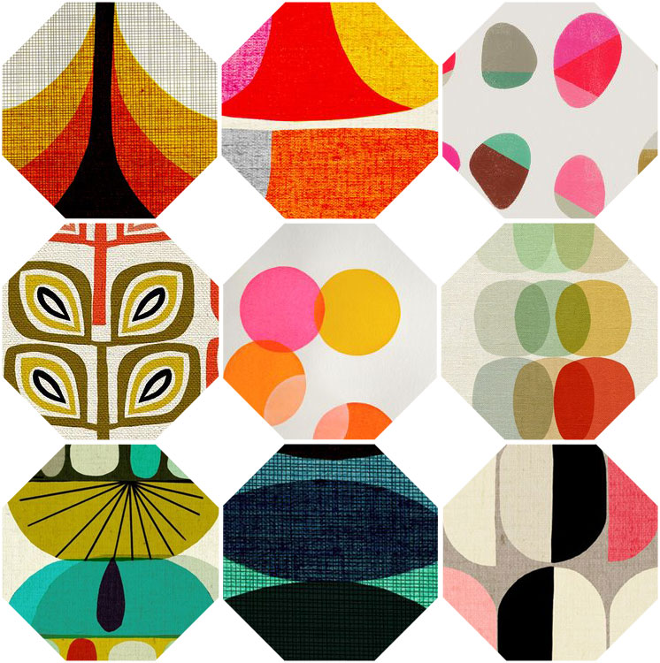 Feng Shui bagua collage from oilcloth   Girlfriend is Better