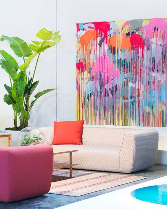 Art + pastels for creativity center | Abstract art | Feng Shui | Girlfriend is Better