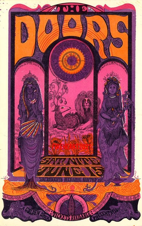 The Doors vintage rock poster | Festival fashion | Girlfriend is Better