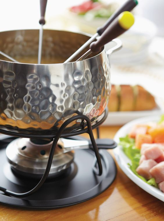 Fondue holiday parties are easy + fun! | Girlfriend is Better