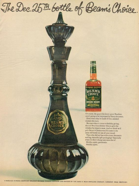 Jim Beam glass decanters painted for I Dream of Jeannie | Girlfriend is Better