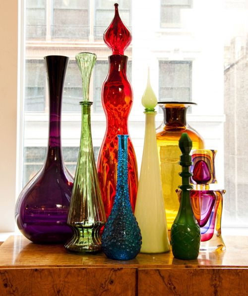 Vintage glass decanters | Girlfriend is Better