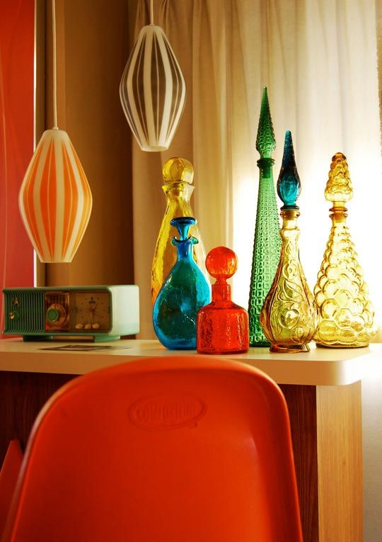 Glass decanters and genie vases   Mid-century modern   Girlfriend is Better