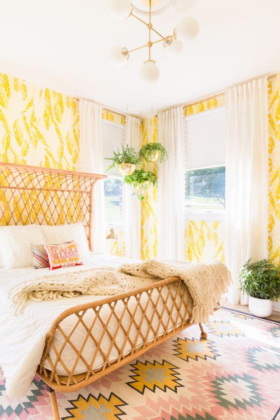 Yellow bedroom decor | Health + Well-Being Feng Shui | Girlfriend is Better