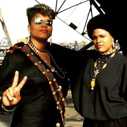 Queen Latifah + Monie Love | Strong black women hip-hop fashion from the 90's | Girlfriend is Better