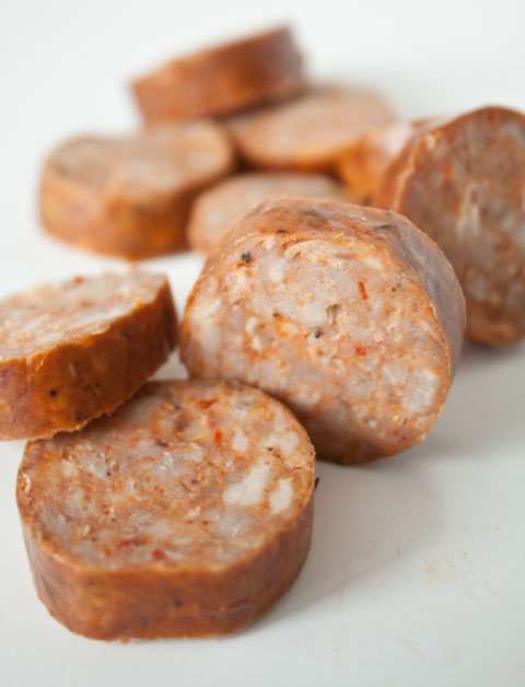 Andouille sausage for healthy jambalaya recipe | Girlfriend is Better