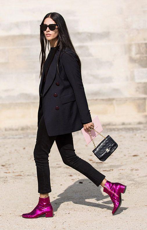 Sequin ankle boots in jewel tones   Girlfriend is Better