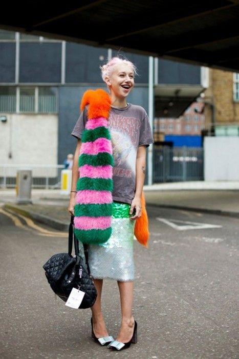 Multicolored fur coat | Girlfriend is Better