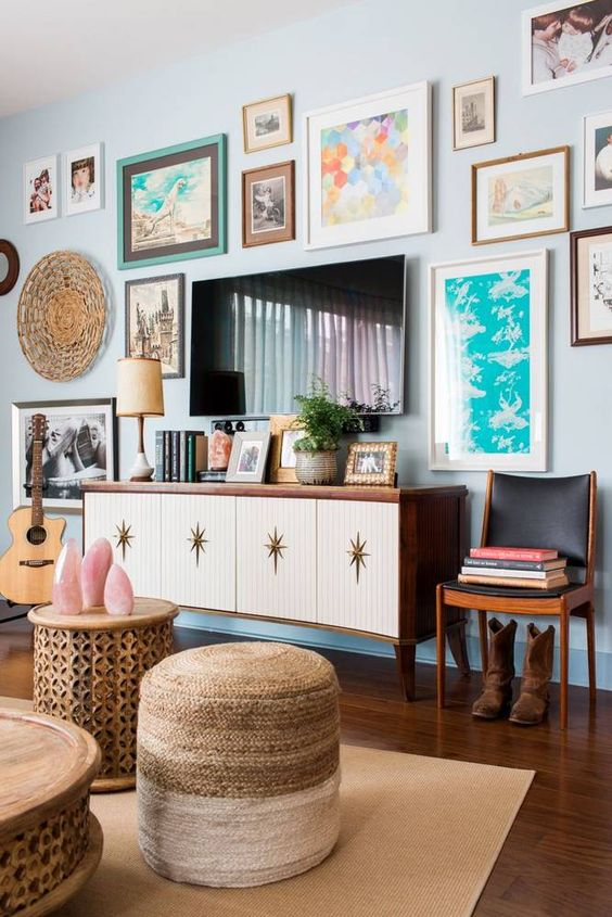 Lauren Cohan's chic Atlanta apartment and home furnishings decorated by interior designer Brian Patrick Flynn. | Painted furniture | Girlfriend is Better