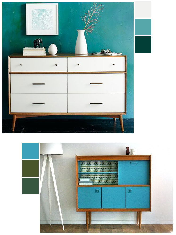 Painted furniture IDY ideas | Mid-century modern | Girlfriend is Better