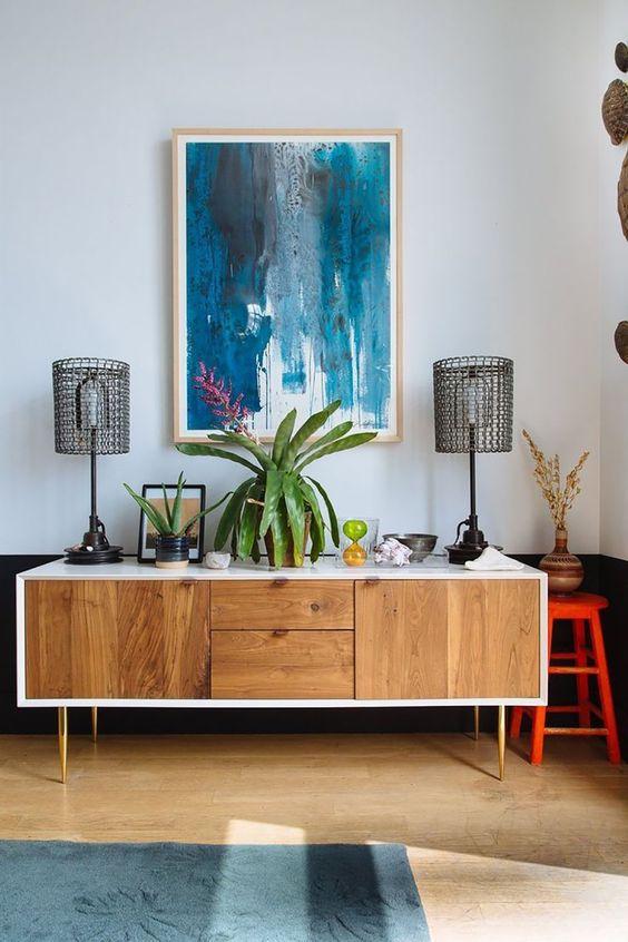 Mid Century Modern Nightstand Makeover | Painted furniture ideas | Girlfriend is Better