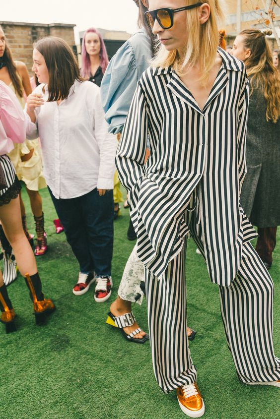 Pajamas during London FW S17 | Marques ' Almeida | Girlfriend is Better