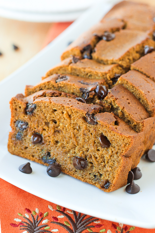Pumpkin Chocolate Chip Bread | Gluten-free, dairy-free | Girlfriend is Better