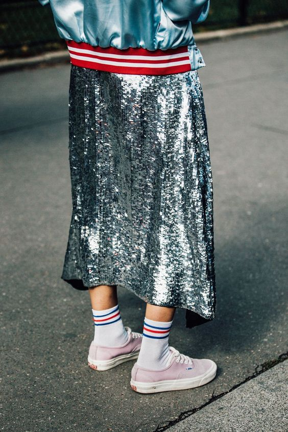 Silver sequins + color psychology | Girlfriend is Better