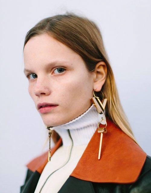 Celine statement earrings | Girlfriend is Better