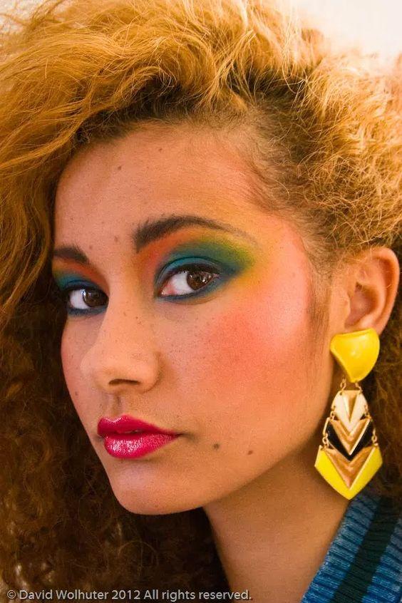 80's enamel statement earrings | Girlfriend is Better