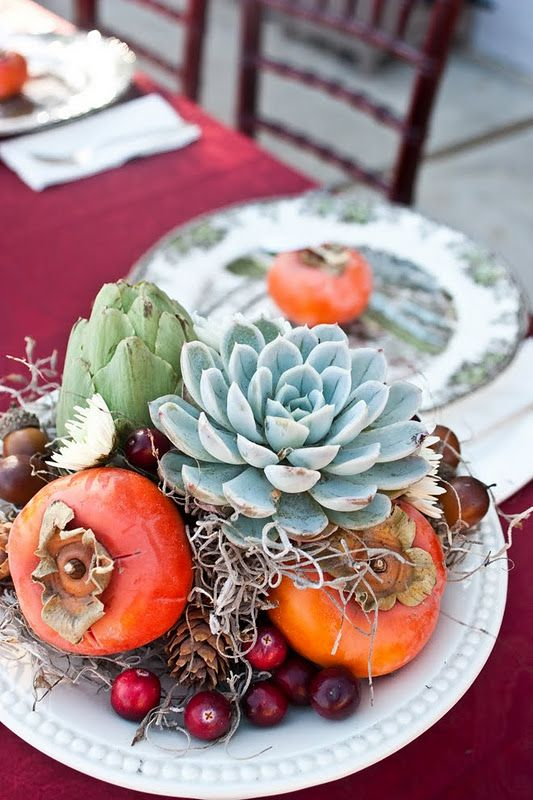 Table settings using succulents | Bohemian eclectic decor | Girlfriend is Better