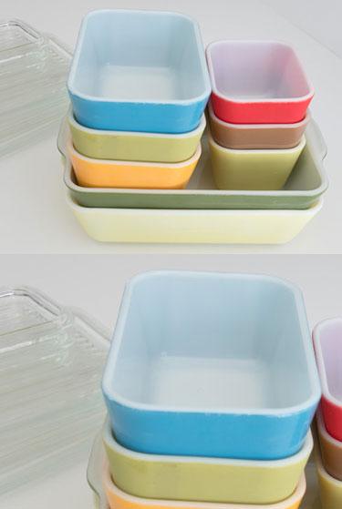 Vintage Pyrex refrigerator storage dishes | MidcenturyLivingShop Etsy