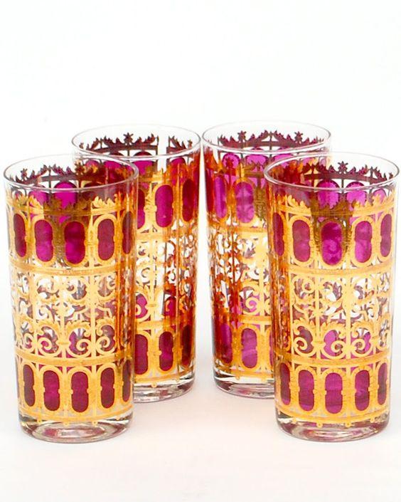 Culver glassware | vintage tumblers | Girlfriend is Better