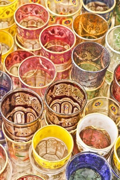 Moroccan tea glasses | vintage tumblers | Girlfriend is Better