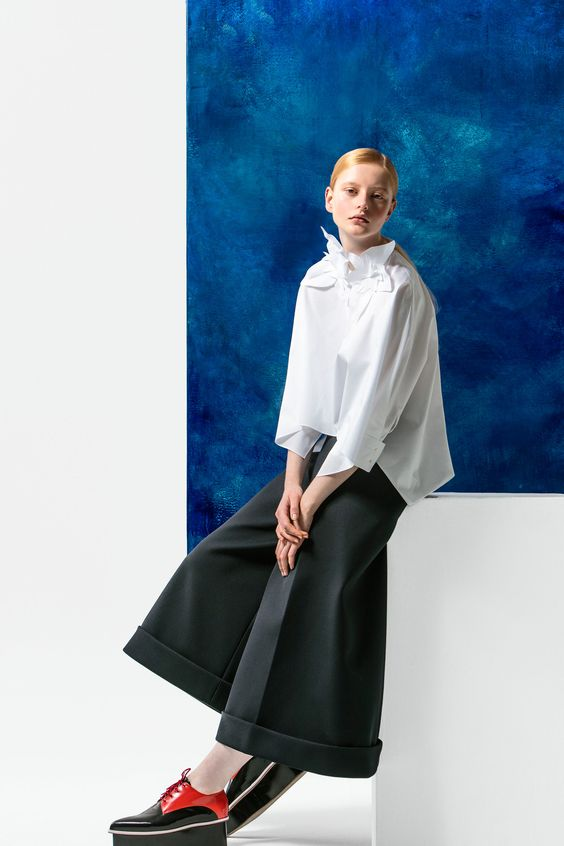 Wide-cut pants instead of a skirt | Delpozo Pre-Fall 2016 collection | Girlfriend is Better